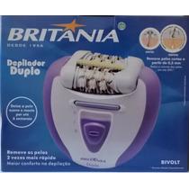 Britânia Depilador Duplo Branco/lilás Bivolt + Brinde