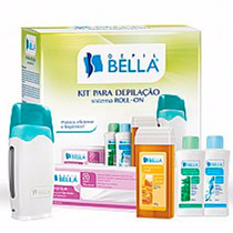 Kit Para Depilação C/ Aquecedor De Cera Roll-on Depil Bella