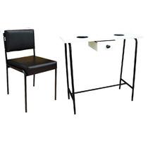 Mesa De Manicure Com Gaveta + Cadeira