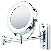Lindo Espelho De Luxo Aumento Com Luz -parede/bancada Jm 315