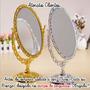 Espelho De Mesa Provençal Princesa Com Aumento E Normal M