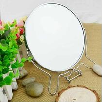 Espelho De Mesa Bancada 5 Pol Maquiagem Dupla Face C/aumento