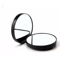 Kit C/ 3 Un. Espelho De Aumento 10x Com Ventosa Maquiagem
