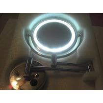 Espelho De Aumento Parede Luz Led / 20cm Diâmetro Bivolt