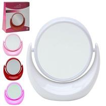 Espelho De Aumento Dupla Face Giratório Bancada P/ Maquiagem