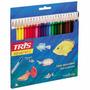 Lápis Aquarelável Tris Cj.24 Cores + Pincel
