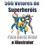 500 Vetores Superheróis Disney E Marvel Cdr E Illustrator