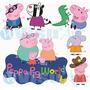 Vetores Peppa Pig Para Convites,estampas,plotagem,adesivos