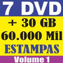 7 Dvd Estampas Vetorizadas Silk Transfer Satiras Vetor Corel