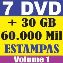 7 Dvd Estampas Vetorizadas Silk Transfer Satiras Vetor Corel