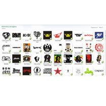 Vetores Bandas De Rock Estampa Silk Screen E Adesivos+brinde