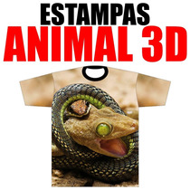 Estampas Vetores T-shirt Animal 3d Camisa Animais 3d Corel