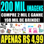 200 Mil Vetores Imagens Estampa Recorte Adesivos Corel Draw