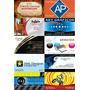 03 Dvds + 6.200 Mod.cartões Visita + Frete Grátis