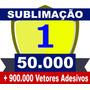 Dvd 50.000 Estampas Sublimação Camiseta Caneca Chinelo Vetor