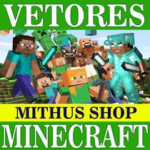 Vetores Imagens Png Minecraft Alta Resolução + Brinde