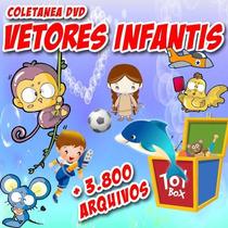 Dvd Vetor Infantil P/ Transfer Silk Plotter Adesivo Corel