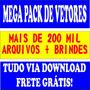 200mil Vetores-imagens-59mil Fontes Grátis-sublimação E Arte