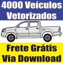 Carros Vetorizados - Veículos Plotter Recorte Envelopamento