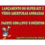 Super Kit 2 De Vídeo Aberturas Animadas 5 Dvd´s Lançamento
