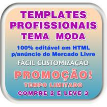 Template Html - Anúncio Profissional Mercado Livre Tema Moda