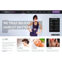 Template Site Wordpress Para Salão E Cabeleireiros