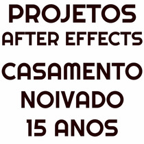 Projetos After Effects - Aberturas De Video Para Casamento