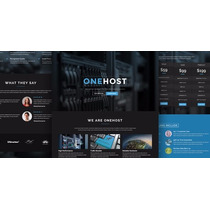 Tema Onehost - One Page Wordpress Hosting Theme + Whmcs