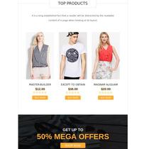 E-mail Marketing Html Vários Template
