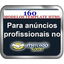 Template Editável Html P/ Anúncio Profissional Ml 160 Modelo