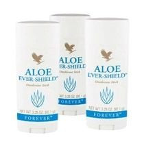 (kit Com 3) Aloe Ever-shields Desodorante Natural - Forever