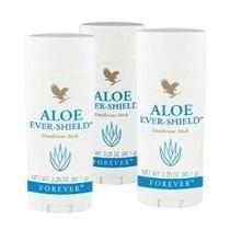 Kit (03) Aloe Ever-shield(desodorante Stick) Forever-92.1grs