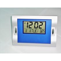 Relogio De Parede Ou Mesa Digital, Despertador C/ Termômetro