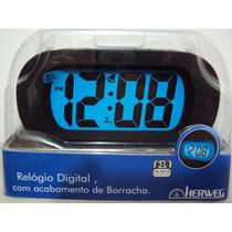 2933 - Relógio Inquebrável Despertador Digital Emborrachado