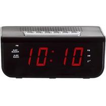 Radio Relógio Despertador Digital Am/fm Alarme Herweg 8103