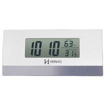 2968 Relógio Despertador Digital Termômetro Higrômetro Preto