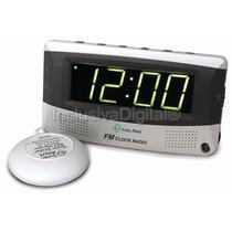 Rádio Relógio Despertador Vibrador Sonic Boom Alert Sbr350ss