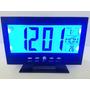 Relógio Mesa / Parede Redondo Digital Termômetro Despertado