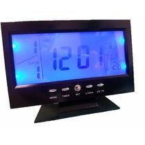 Relógio Digital De Mesa C Iluminação:alarme,data,termômetro