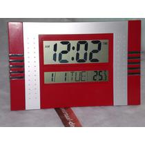 Relógio De Parede E Mesa Digital Termômetro Despertador