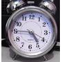 Relógio Despertador Analógico Clássico Antigo Mecânico Pilha