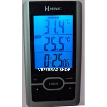 2965 - Relógio Digital 2 Em 1 Com Termômetro Interno Externo
