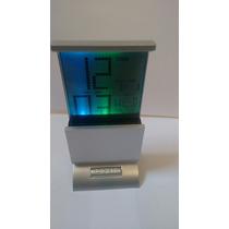 Relógio De Mesa Digital Data/hora Temperatura Led Colorido