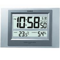 Relogio Casio Id16 Parede Mesa Termô Sensor D.humidade Prata