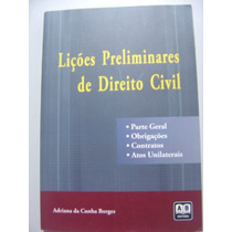 Lições Preliminares De Direito Civil