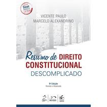 Livro Resumo De Direito Constitucional Descomplicado 2015