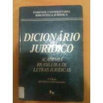 Dicionário Jurídico Academia Brasileira De Letras Jírídicas