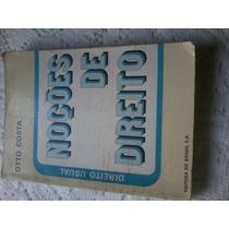 Noções De Direito - Direito Usual - Otto Costa,livro