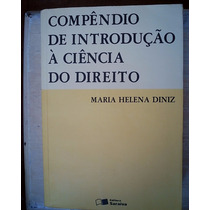 Livro - Compêndio De Introdução À Ciência Do Direito - 1995