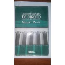 Livro Lições Preliminares De Direito Miguel Reale